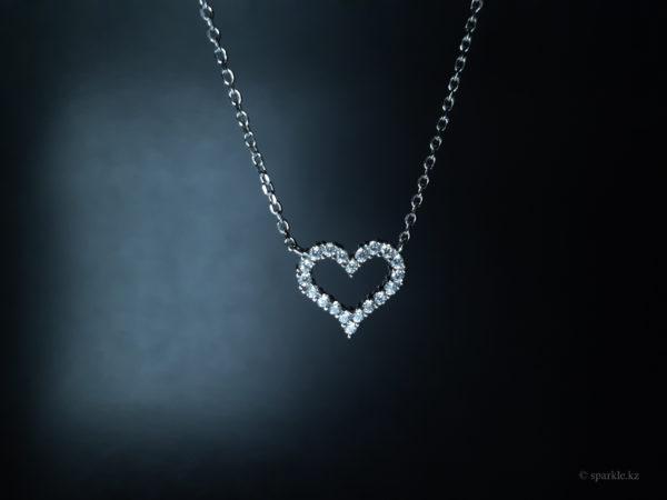 серебрянное сердечко